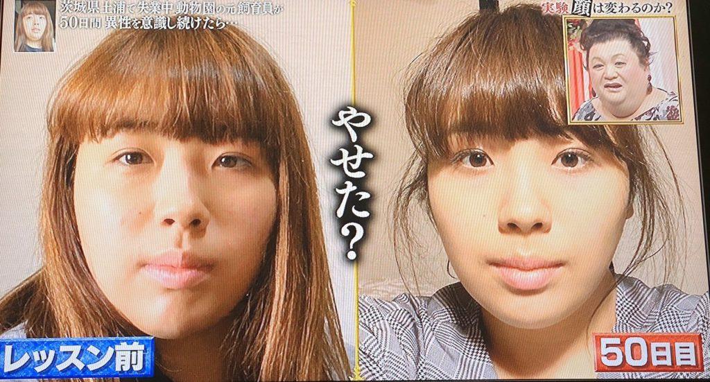 実験 50 日間 で 女性 の 顔 は 変わる のか
